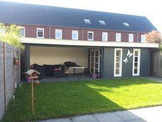 TuinTotaalCenter Zwolle - modernvarioflex-mj-28-350x300-500x300dd Tuinhuizen en Blokhutten met platdak en luifel | Blokhutten, Tuinhuizen, Garages