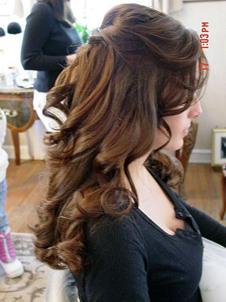 Half Up Half Down Curly Hairstyles For Medium Length Hair