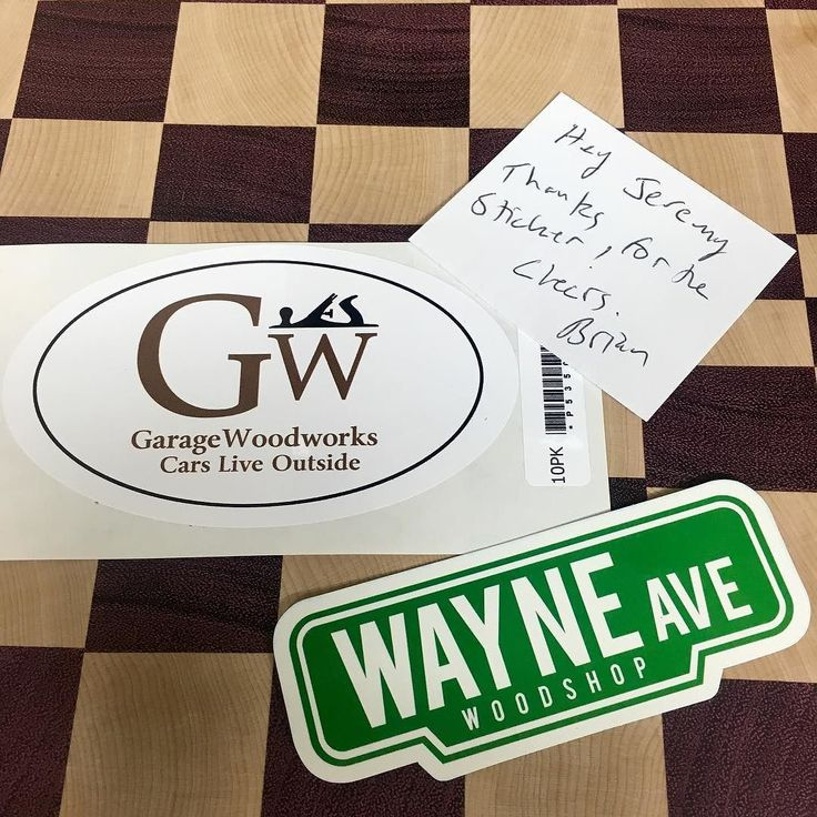 Couple more stickers came in the mail this week! Check out @garagewoodworks and @wayneavenuewoodshop! These two are some awesome dudes! #csw #countrysideworkshop #stickerswap #youtubewoodworkers #endgraincuttingboard #purpleheart #hardmaple #stickermule