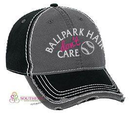 Ballpark Hair Don't Care - Choose Your Cap!