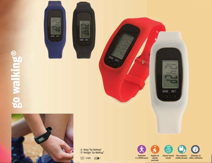 Para los que hacen ejercicio....  Reloj GO WALKING  Podómetro-Registro de calorías-sistema horario am/pm-peso corporal-Distancias en millas y kilómetros.  Un gran regalo para los deportistas.  #deporte #subirescaleras #walking #regalo  berimport@berimport.es www.berimport.es