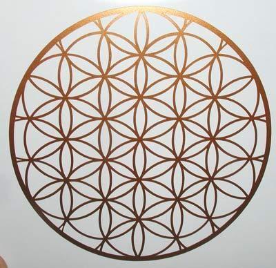 Flower of life medieval sacred geometry mandala copper vinyl decal sticker