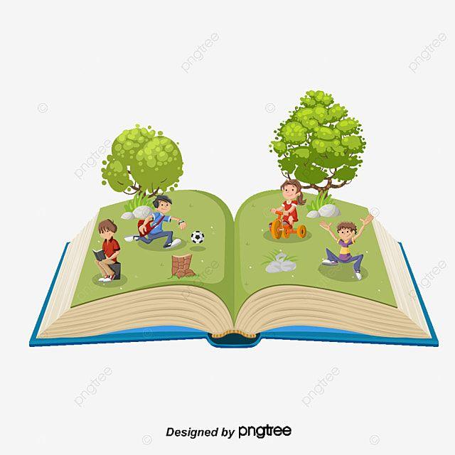 شجرة ناقلات مع كتب الأطفال الكرتون شجرة رسوم متحركة كرتون اطفال Png وملف Psd للتحميل مجانا Vector Trees Cartoon Children S Books