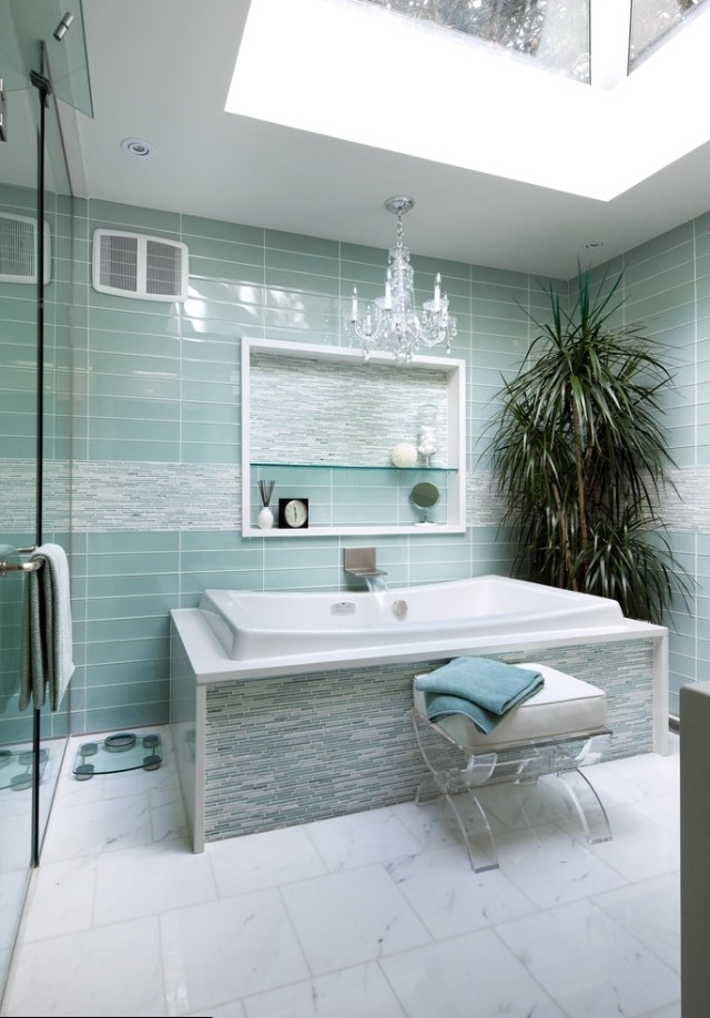Sea glass blue bathroom and spa. 341 best Bathroom remodel images on Pinterest