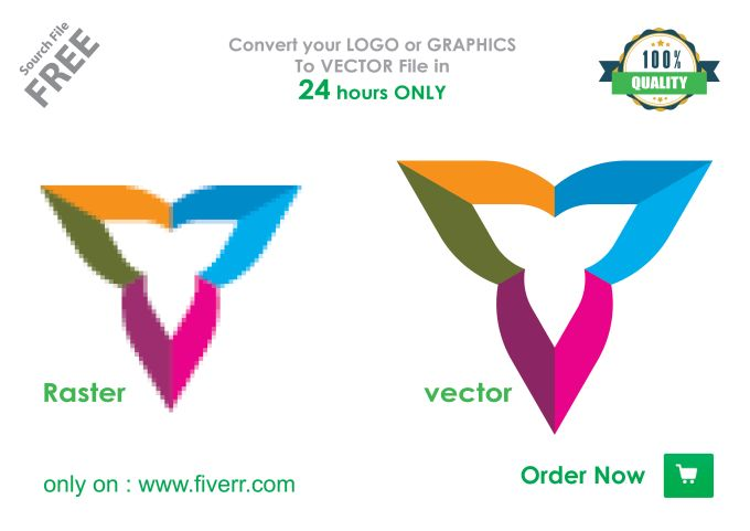 vectorize your Raster logo in vector format within 24hrs