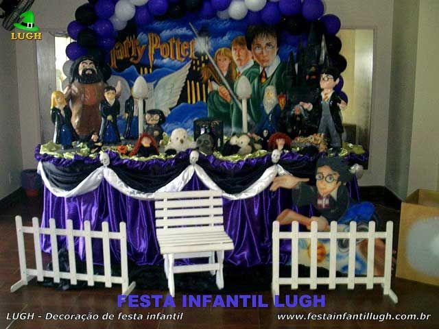Decoração infantil Harry Potter - Mesa tradicional luxo para festa de aniversário