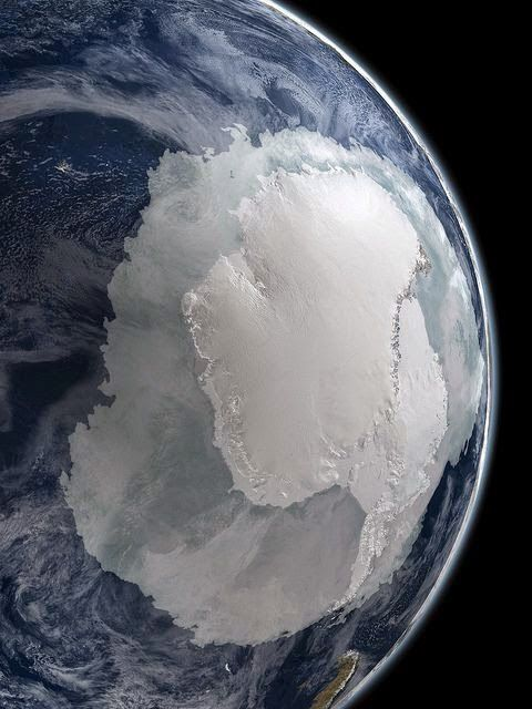 Antarctica from space, by NASA Nite, nite south
