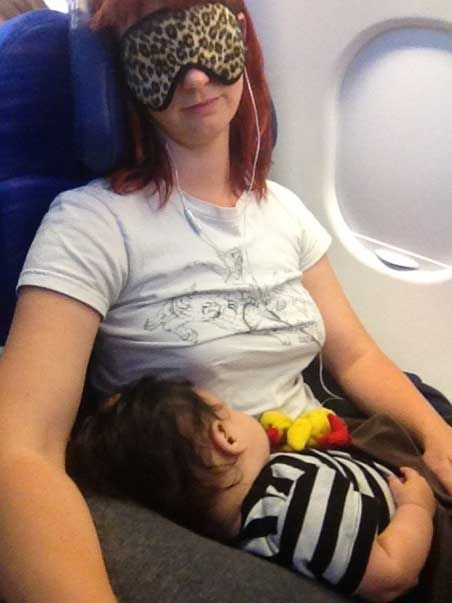 Flying with a baby...