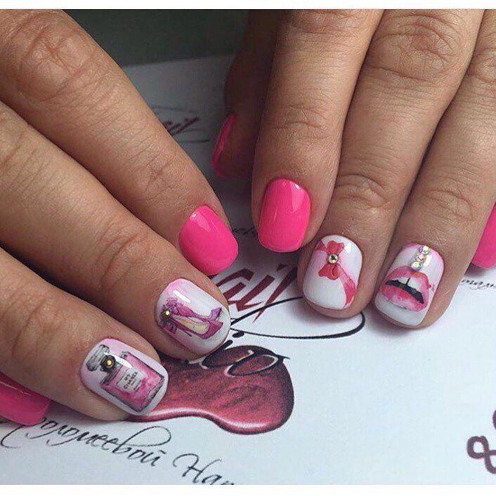 Fashion nails 2017, Fashion shellacnails, Nails trends 2017, Painted nail designs, Painted nails, Party nails, Pink manicure ideas, Spectacular nails