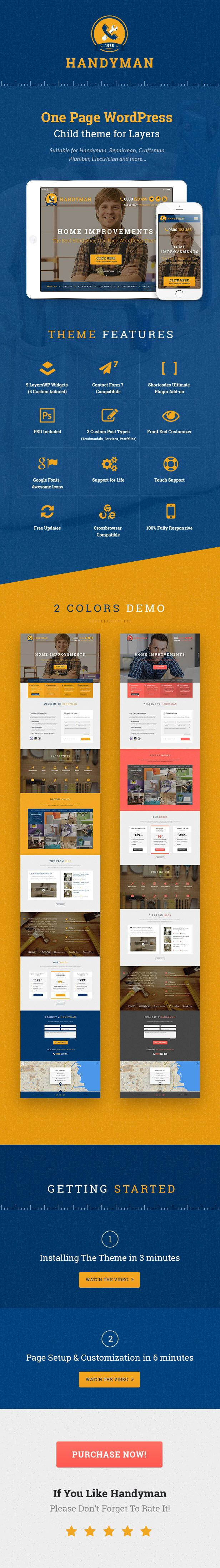 Check out our amazing #Handyman #WordPressTheme on #ThemeForest made by Theme Laboratory