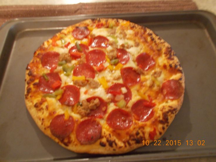 i baked my free freschetta pizza!i received from @smiley360  me and the hubby loved it!!