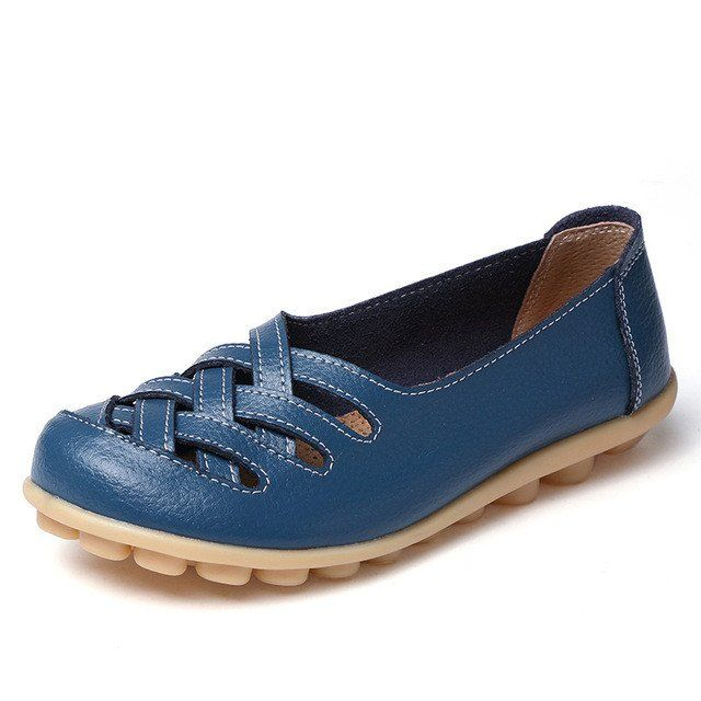 Aqua Blue Casual Comfy Smooth Shoes with Lattice Hatched Upper - Comfo – Nodule Shoe