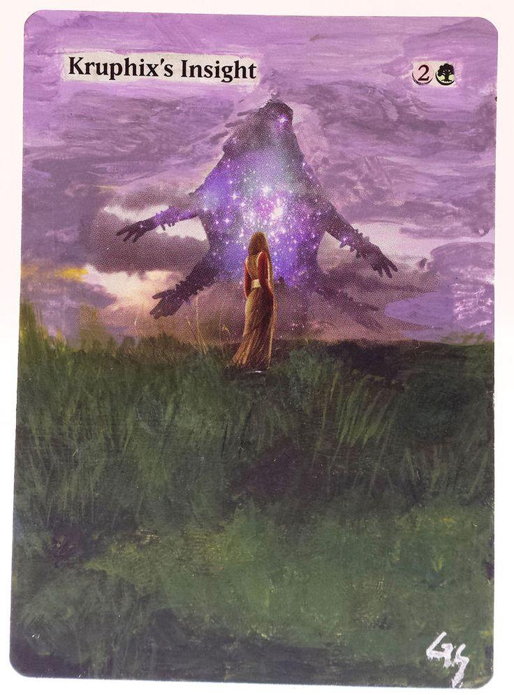 MTG Altered Art Kruphix's Insight Hand Painted Full Art OOAK Rare Magic Card #WizardsoftheCoast :~)