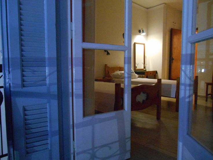 Alexandris Hotel questroom as seen by night light