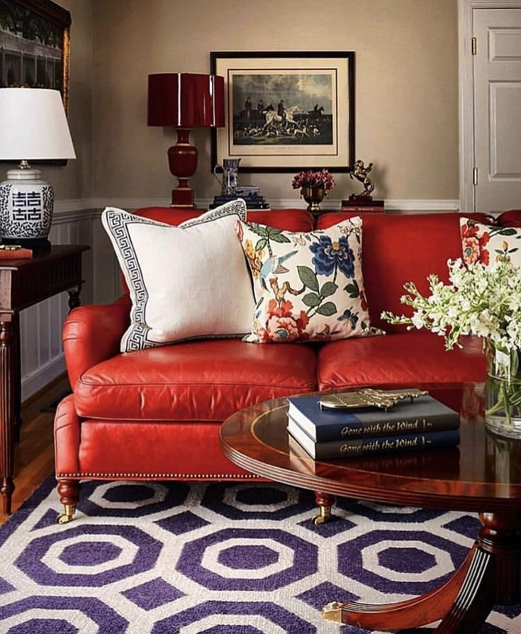Pin by Lauren King on Condo Decorating Ideas   Red sofa ...