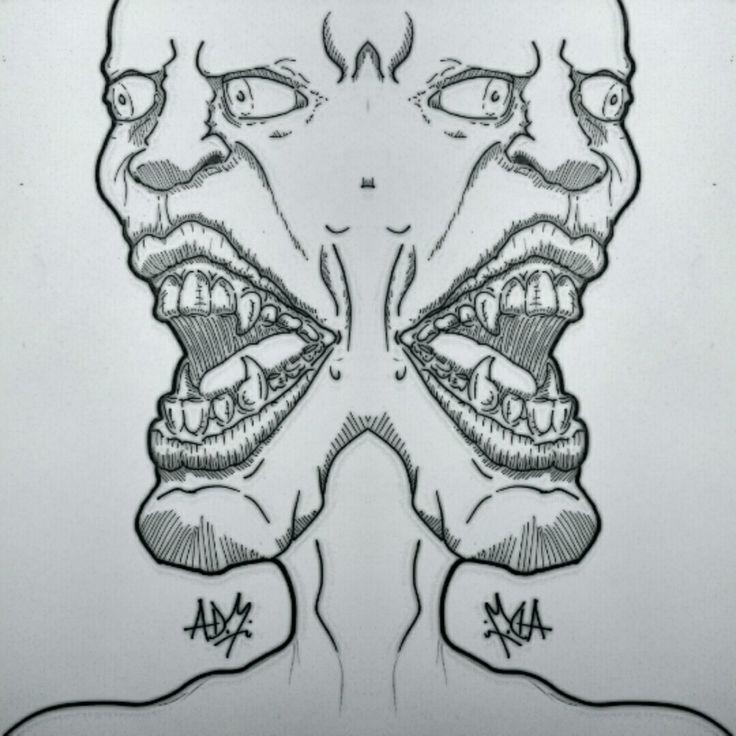 Two face / siamés / mirror