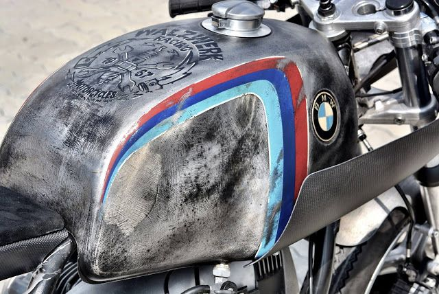 """BMW R100RS Cafe Racer """"schizzo"""" by Walzwerkracing #motorcycles #caferacer #motos 