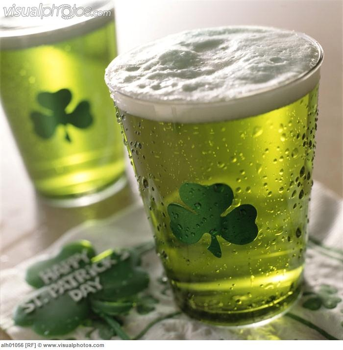 Close-up of green beer on St. Patricks Day [alh01056]  Stock Photos ...