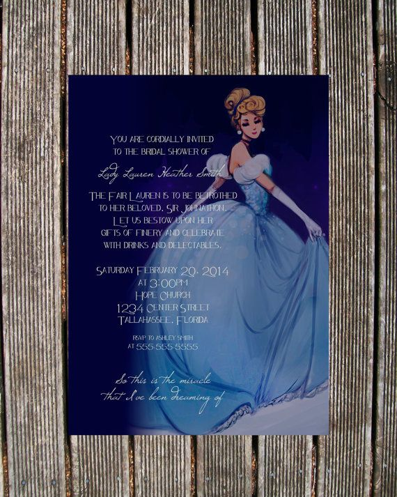 Cinderella Bridal Shower Invitation by BeOurGuestDesign on Etsy