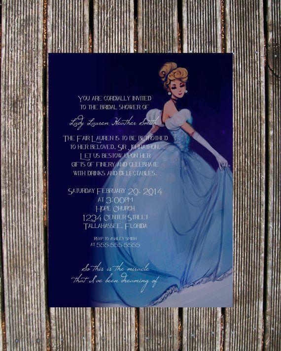 Cinderella Bridal Shower Invitation by BeOurGuestDesign on Etsy