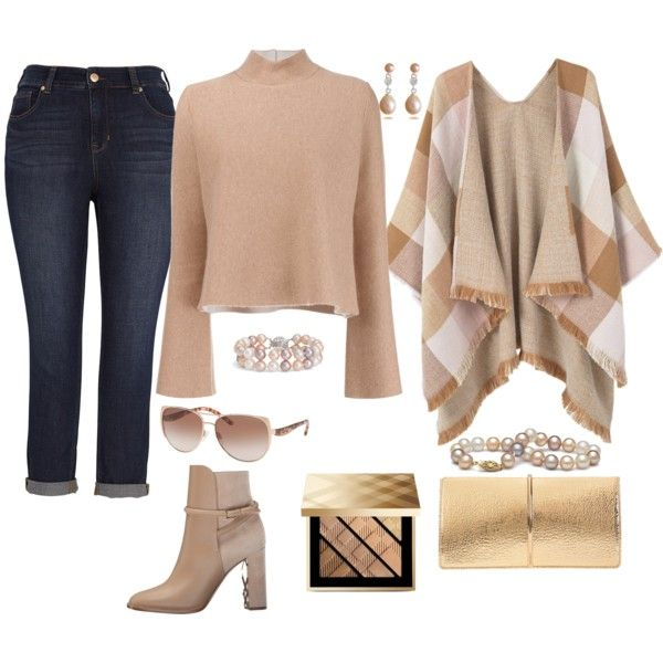 How to... Chic pearls winter style with cropped jeans by vicky-angelidou-pappas on Polyvore featuring Proenza Schouler, MANGO, Melissa McCarthy Seven7, Burberry, Nina Ricci, Blue Nile and Michael Kors