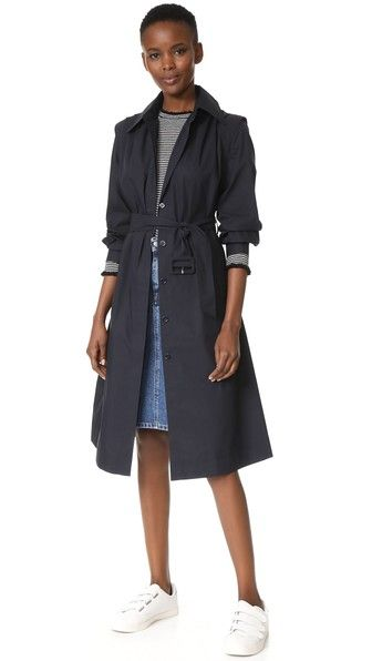 ¡Consigue este tipo de trench de Edition10 ahora! Haz clic para ver los detalles. Envíos gratis a toda España. Edition10 Belted Trench Coat: This lightweight Edition10 trench coat is cut in a maxi-length silhouette. Gathers accent the shoulder seams, and a center pleat relaxes the storm flap. Fold-over collar and covered-button placket. Optional self-belt. Unlined. Fabric: Lightweight weave. 70% cotton/30% polyester. Wash cold. Imported, China. Measurements Length: 41.25in / 105cm, from…