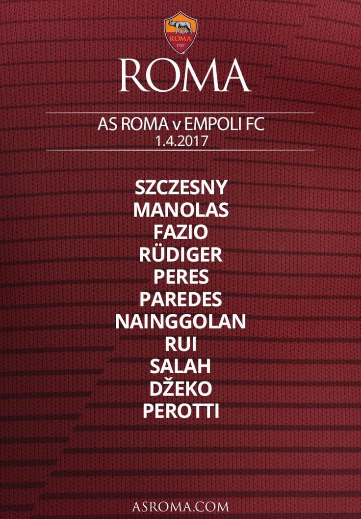 Contro l'Empoli, Diego Perotti giocherà da titolare al fianco di Edin Dzeko e Mohamed Salah