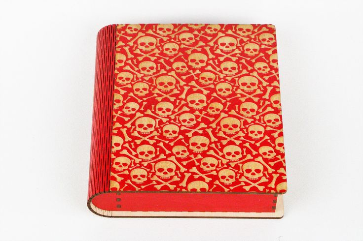 Magnetic Latch Book Box-Skull and Crossbones by PixieLaneVinylDesign on Etsy
