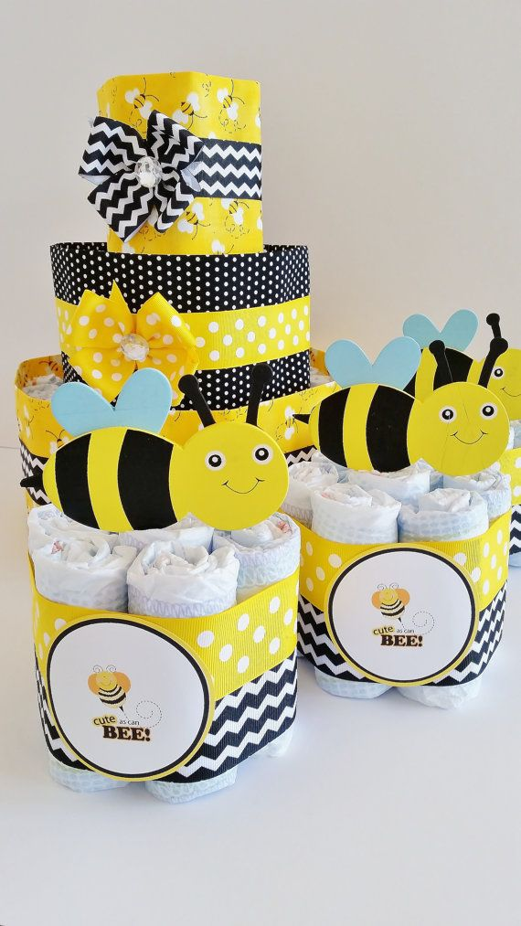 Cute as can Bee Diaper Cake Mommy to Bee by LilLoveBugsCreations