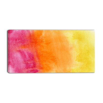 Designart Canada PT6140 Yellow, Purple Meet Orange Canvas Art