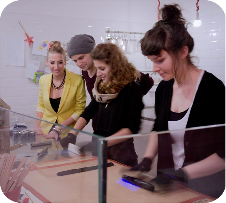 """The """"Budapest With Us"""" Crew behind the scenes @ Cukorka - Sweetfabrik Budapest"""