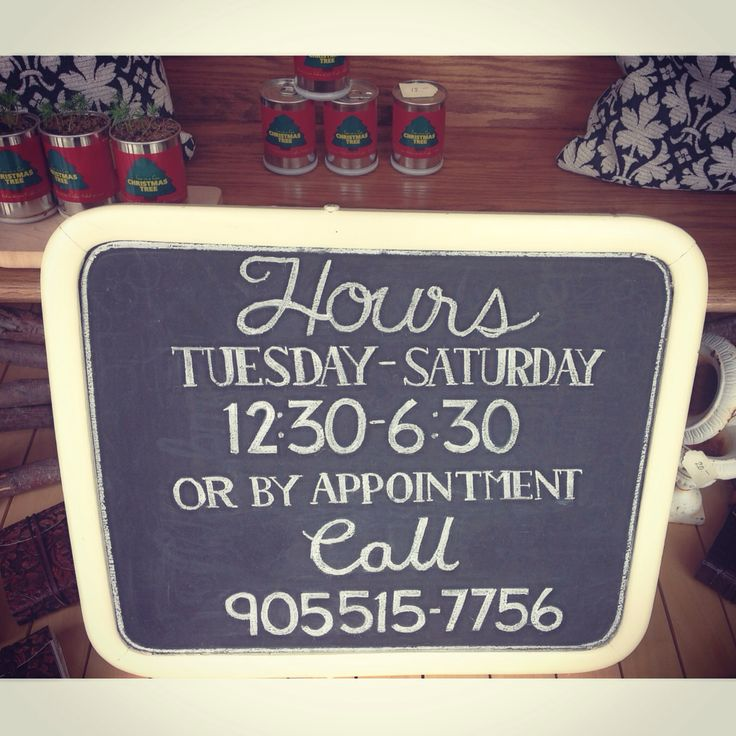 Shop Hours Sign by Dayna Vago Designs