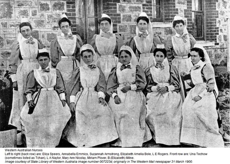 Nurses from Western Australia go off top war - 1900
