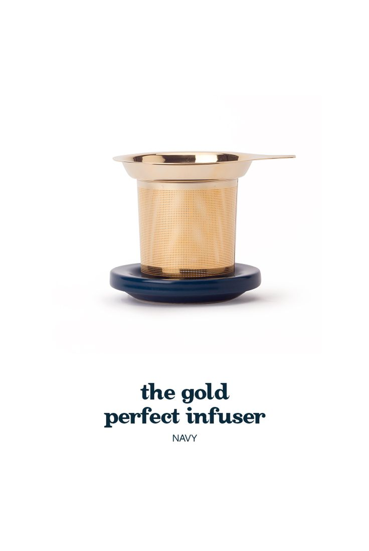 how do you improve on perfection? Easy. Make it gold. That's just what we did with this luxurious, gold-coated update on our classic infuser. It's the ultimate way to add a little bling to any gift – or to your tea cupboard.