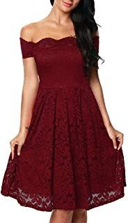 best service 661be 633fd TOUVIE Damen Elegant Abendkleid Cocktailkleid Schulterfreies ...
