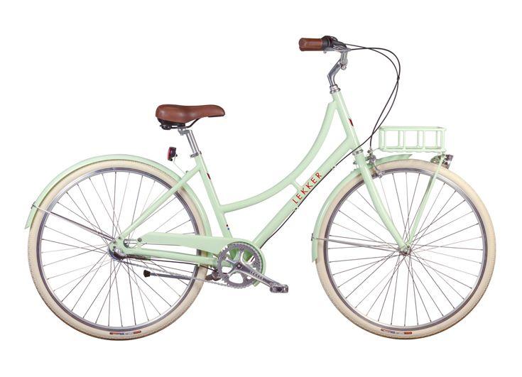 Lekker Bikes – Retro vintage dutch bike in pastel-green. lekkerbikes.com.au