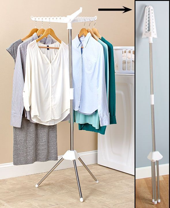 Clothes Rack Laundry Hang Dry E Saver Portable Compact Hanging Drying 3 Arms Customclosets
