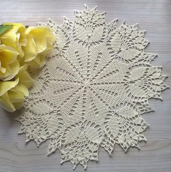 Crochet Doily Tulip Flowers Crochet doily Home от EcoCrochetArt