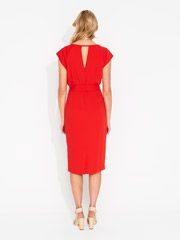 Ready In Red Flutter Shift