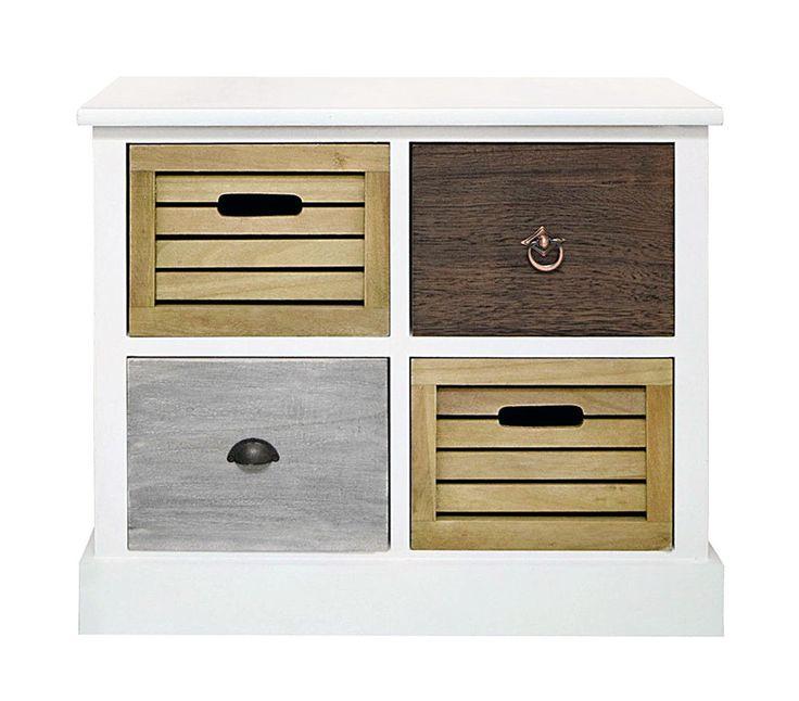 Mobiletto comodino cassettiera cassetti legno bagno salotto entrata cucina