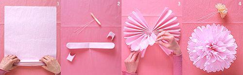 Как сделать большой бумажный помпон