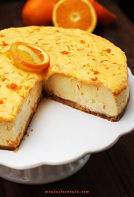 Orange cheesecake - sernik pomarańczowy