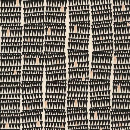 Robert Kaufman Fabrics: AFR-15024-2 BLACK by Carolyn Friedlander from Doe