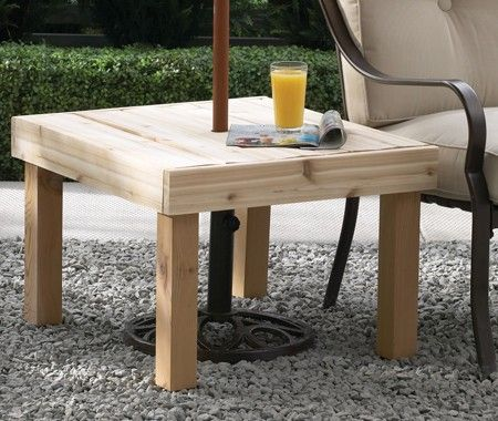 DIY Simple Patio Umbrella Table   Clean Lines Offer Form And Function.  Hereu0027s The Perfect