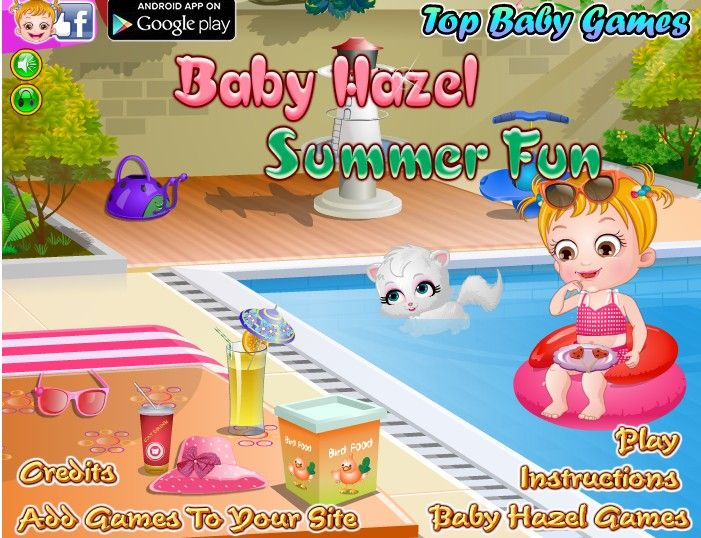 Too much heat in summer has made baby Hazel feel terrible and sweaty. Burning rays  of sun can cause her skin problem. Help Baby Hazel in taking extra care of her delicate skin in this sweaty summer. http://www.topbabygames.com/baby-hazel-summer-fun.html
