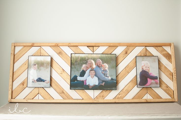Wooden Chevron Picture Frame | inbetweenchaos.com