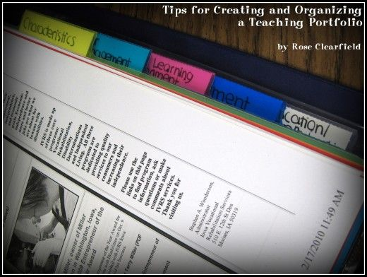 Tips for Creating and Organizing a Teaching Portfolio