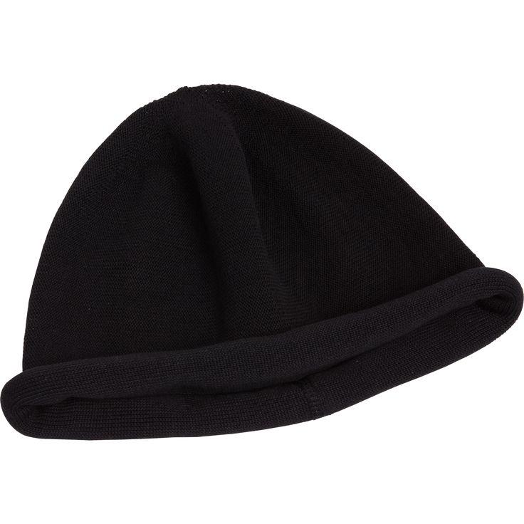 bonnet roulé noir