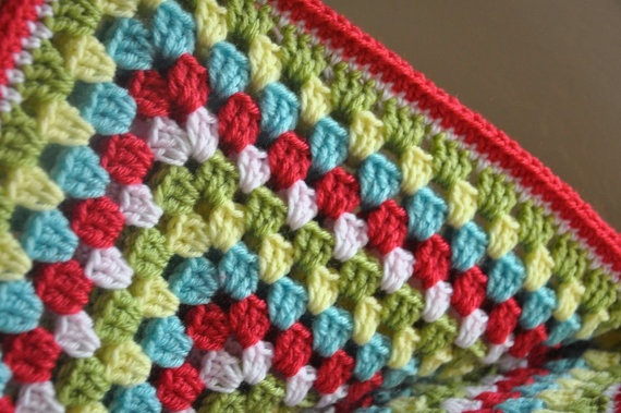 Baby Blanket Granny Square Penelope by AllThingsGranny on Etsy, $50.00.  Love the colors