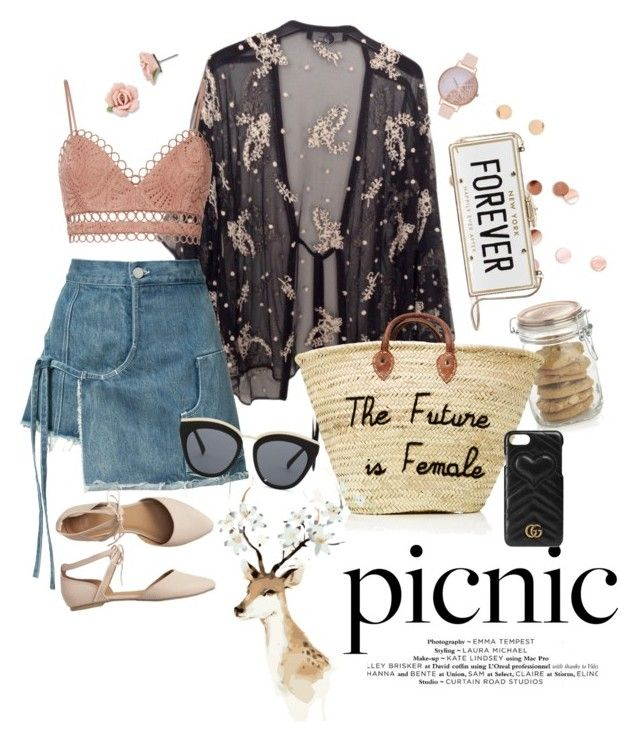 """""""We ❤️ Picnic"""" by cosomica on Polyvore featuring Twin-Set, Zimmermann, Crate and Barrel, Umbra, Sandy Liang, Gap, Kate Spade, Gucci, Olivia Burton and 1928"""